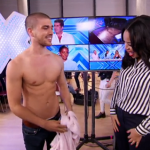 Shirtless Model George Tarrant, The Joys singing Firework, Essex Girl Lottie Lou entertained Sarah-Jane Crawford on Xtra Factor