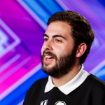 Andrea Faustini singing Try a Little Tenderness at The X Factor 2014 Arena Auditions