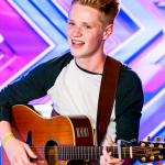 Stevie Tennet singing I Won't Let You Go at The X Factor 2014 Auditions force Cheryl to eat cake
