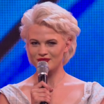 Chloe Jasmine boyfriend behaving got a laugh before Why Don't You Do Right by Peggy Lee at The X Factor 2014 Arena Auditions