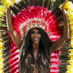 Sinitta semi naked outfit at X Factor 2014 Judges Houses in Los Angeles.raise eyebrows