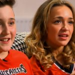 Lauren Platt gets a visit from her brother Louis a head of her performance of Smile on the X Factor 2014 Big Band Week
