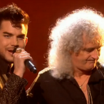 Adam Lambert and Queen performs somebody to love with X Factor UK contestants on results show