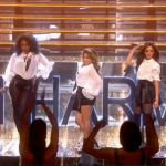 Fifth Harmony sings new single Bo$$ on The X Factor UK Results show