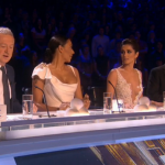 Cheryl and Mel B. low cut boobs revealing dresses on The X Factor 2014 Semi Final