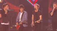One Direction performs with Ronnie Wood from the Rolling Stones on The X Factor 2014 Final. They gave an energetic performance of Where Do Broken Hearts Go to a packed...