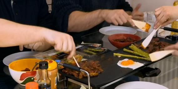 Japanese teppanyaki grill