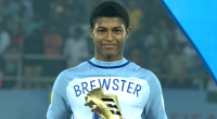 Liverpool and England's Rhian Brewster won the golden boot after finishing top scorer in the 2017 U17 World Cup.