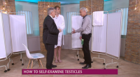 """Dr Chris Steele shows to examine men testicles for cancer on This Morning. Dr Steele says: """"Testicular cancer is still rare, but 96% of patients are successful in beating the […]"""