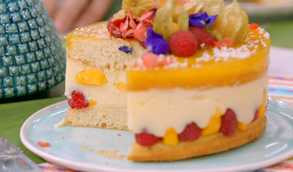 mango and raspberry cake 2