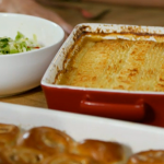 Food & Drink: Michel Roux Jr mums Shepard's Pie with stir-fried Cabbage and chilli with garlic and fish sauce