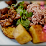Jerk Pork with Usain Bolt's Aunts Recipe on Jamie and Jimmy's Friday Night Feast
