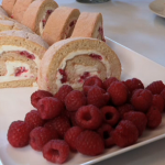 Lavender Shortbread and Roulade with homemade lemon curd got The Sweetheart Bakery a first round win on Britain's Best Bakery