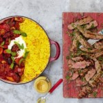 Grilled Steak, Ratatouille and Saffron Rice by Jamie Oliver on 15 Minutes Meals