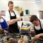 Pigeon Post by Raymond McArdle, Dig For Victory by Chris McGowan and Fighting Food by Will Brown starter recipes starts series 9 of the Great British Menu