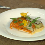 Red Mullet with toasted cucumber for Paul Young on Spring Kitchen with Tom Kerridge