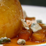 Raymond Blanc baked resset apples with Caramel and Calvados sauce recipe on Kitchen Secrets