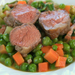 Rump of Lamb with peas by Tom Kitchin on Spring Kitchen with Tom Kerridge