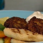Bill Granger Quinoa fritters and tahini yoghurt on Lorraine