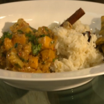 James Martin coriander fish curry with pilau rice on Saturday kitchen