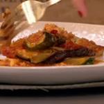 James Tanner mozzarella lasagna with summer vegetable recipe on Lorraine