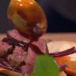 Bill Granger Sticky steak rolls and barbecue sauce recipe on Lorraine