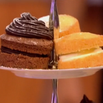 Gino D'Acampo  afternoon tea with chocolate sponge cakes and avocado icing  recipe on Let's Do Lunch with Mel