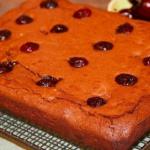 David Edward chocolate and cherry brownies recipe on Lorraine
