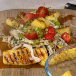 Lesley Walters Pineapple and chilled strawberries with smoked chicken platter recipe on This Morning
