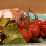 Dean Edwards Mediterranean Chicken traybake with vegetables recipe on Lorraine