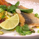 Bill Granger roasted apricot couscous with grilled fish recipe on Lorraine