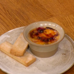 Gino D'Acampo Vanilla Creme Brulee with Summer Berries and shortbread biscuits recipe on Let's Do Lunch