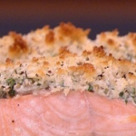 Dean Edwards Olive crusted salmon with roast peppers recipe on Lorraine