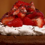 Gino Italian caprese cake with chocolate and strawberries recipe on Let's Do Lunch with Gino and Mel