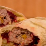 Gino D'Acampo lamb koftas with homemade hummus, flatbreads and pickled beetroot recipe on Let's Do Lunch with Melanie Sykes