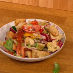 Gino D'Acampo Panzanella salad with red onions and stale bread recipe on Let's Do Lunch
