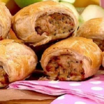 Sally Bee turkey sausage rolls recipe on Lorraine