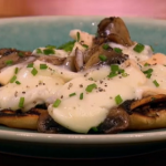 Gino garlic mushrooms with oozing taleggio Cheese recipe on Let's Do Lunch