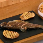 Gino trout with chickpea salad recipe on Let's Do Lunch