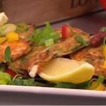 Shelina Permalloo Pea and feta fritters with salsa salad recipe on Lorraine