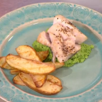 Sally Bee healthy fish and chips using organic potatoes recipe on Lorraine