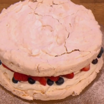 Gino D'acampo hazelnut Meringue with summer fruits recipe on Let's Do Lunch