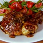 Gino chicken and pancetta in balsamic vinegar recipe on  Gino's Italian Escape: A Taste of the Sun