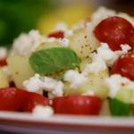 Stevie Parle melon feta salad recipe on The Spice Trip cumin trail