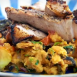 Jerk Spiced Pork with Sweet Potato Salad Recipe by Stevie Parle and Emma Grazette  in Granada on The Spice Trip