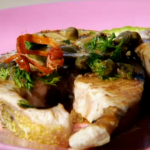 Emma Grazette Grilled Lemon Sole with Mace and nutmegs Recipe on The Spice Trip in Grenada