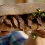 Jamie Oliver  steak and onion sandwich recipe on Jamie's Comfort Food