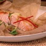 Dean Edwards Fragrant salmon with Thai ribbon salad recipe on Lorraine