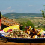 Gino marinated beef skewers and three-bean salad recipe Gino's Italian Escape: A Taste of the Sun