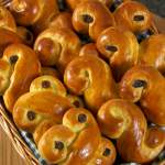 Paul Hollywood St Lucia buns recipe on The Great British Bake Off Christmas Masterclass
